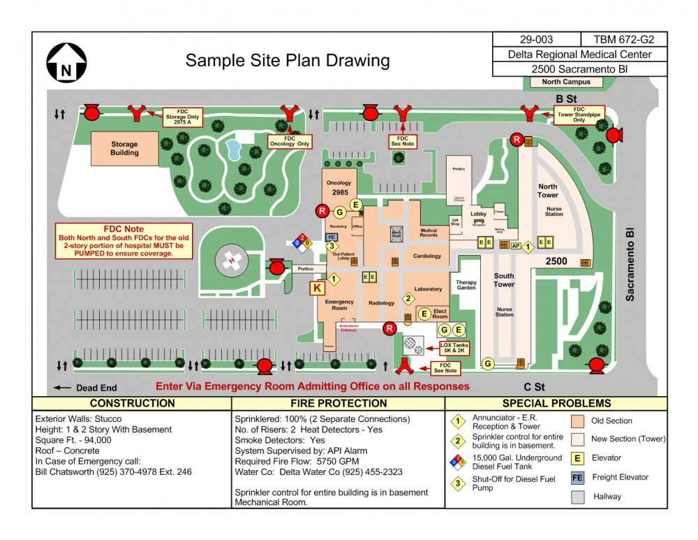 Sample PrePlans MAS Public Safety Consulting LLC – Sample Site Plan